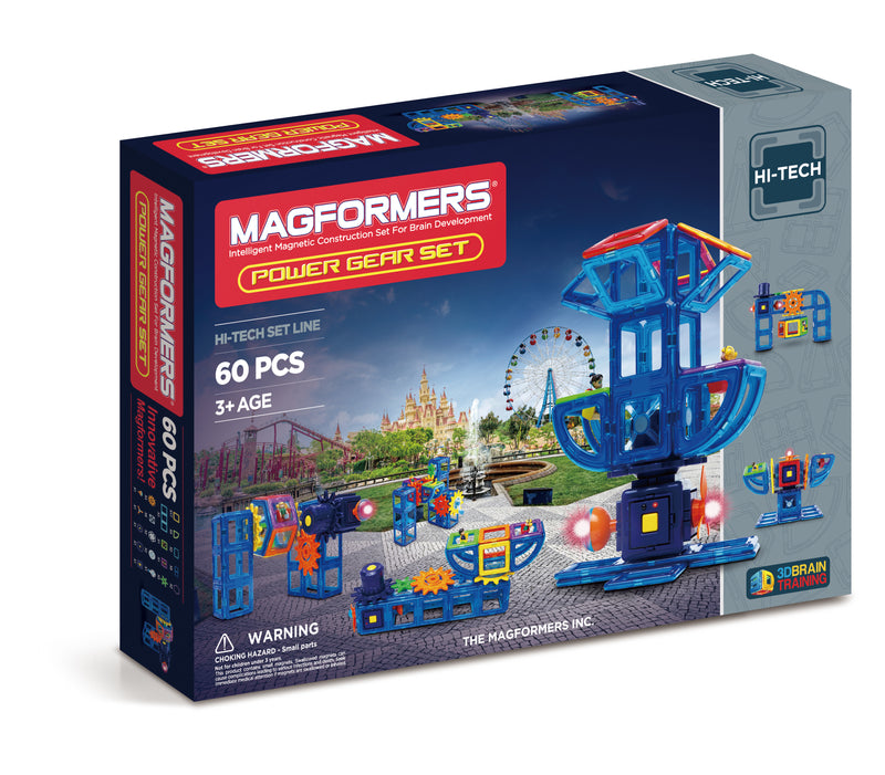 Hi-Tech Power Gear Set 60pcs - Magformers