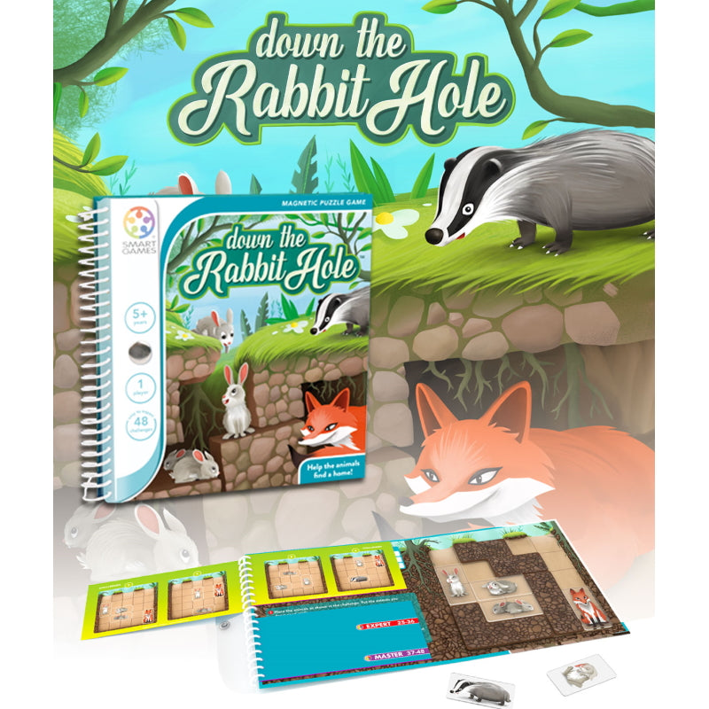 Down the Rabbit Hole Magnetic Travel - Smart Games