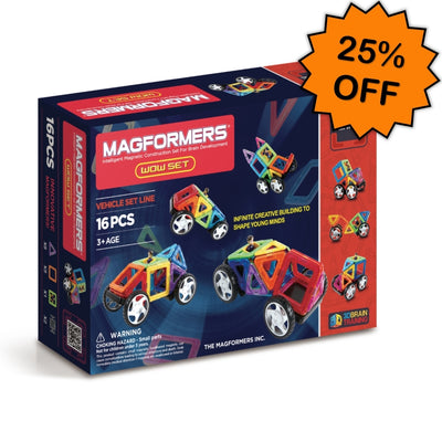 WOW Vehicle Set 16pcs - Magformers Click Frenzy