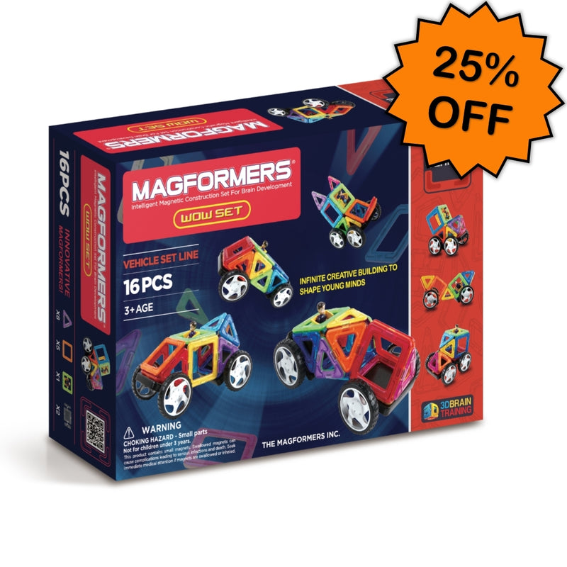 WOW Vehicle Set 16pcs - Magformers