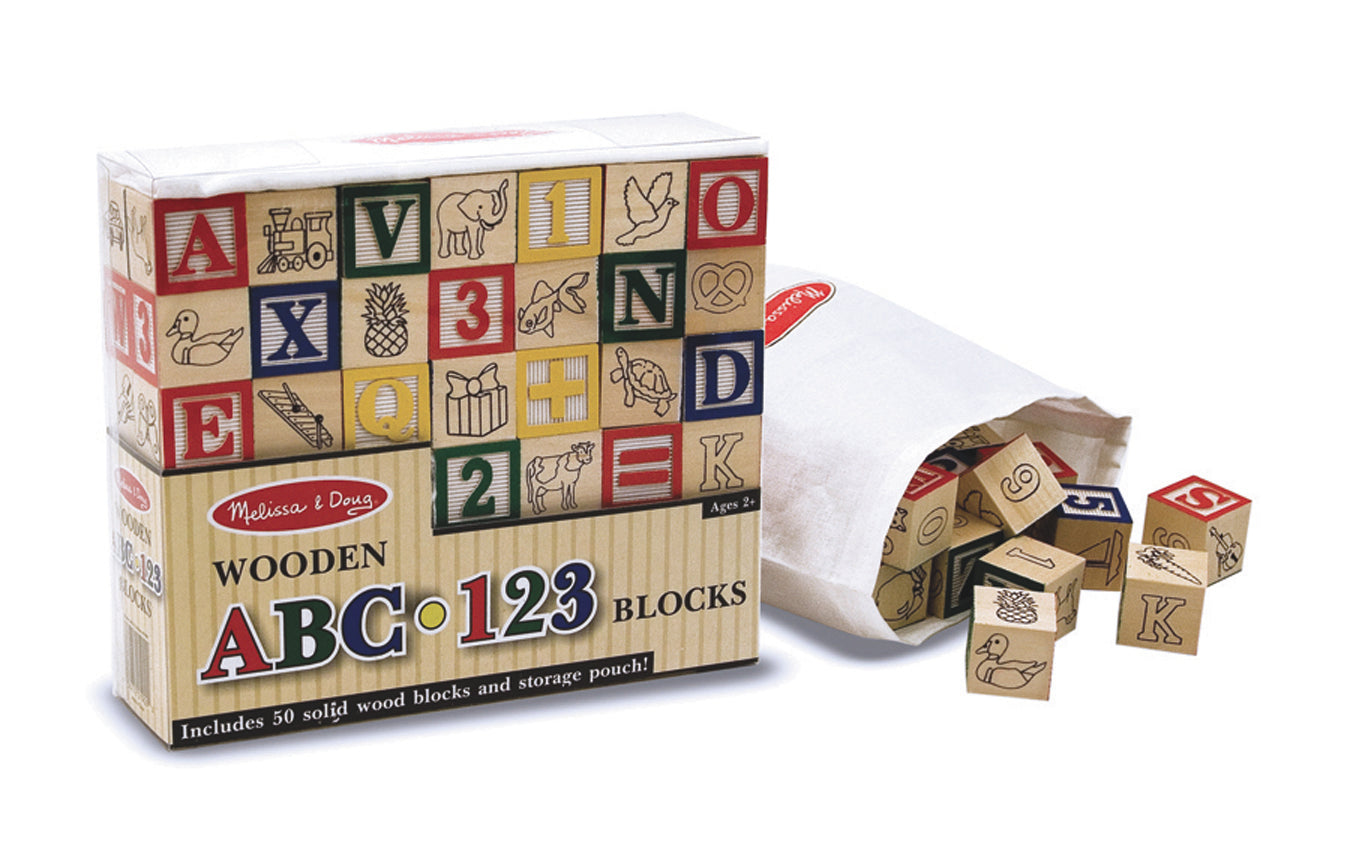 Wooden ABC 123 Blocks Melissa & Doug