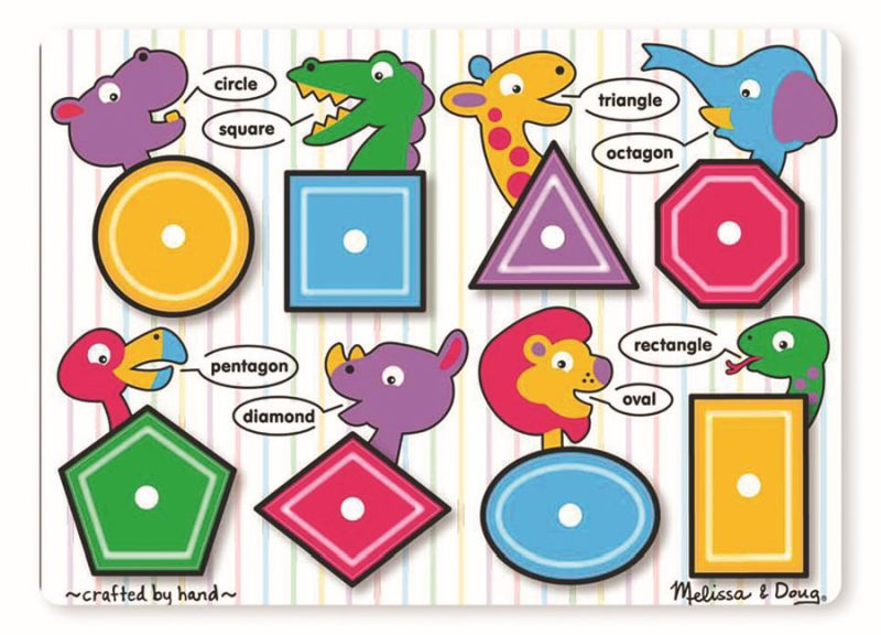 Shapes Peg Puzzle - Melissa and Doug