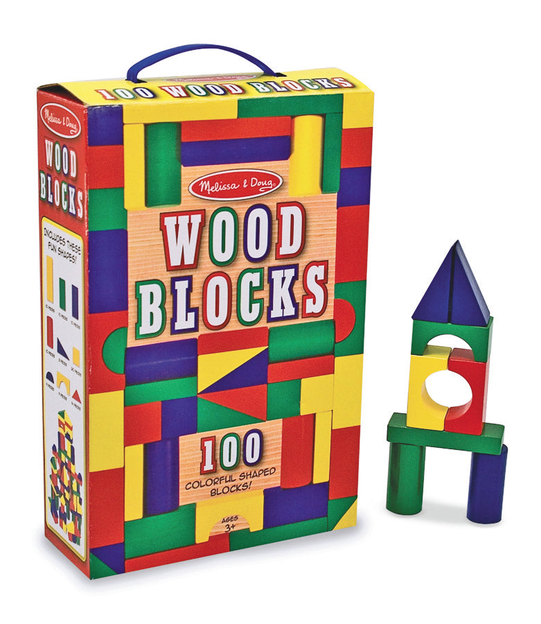 100 Wood Blocks Set - Melissa & Doug