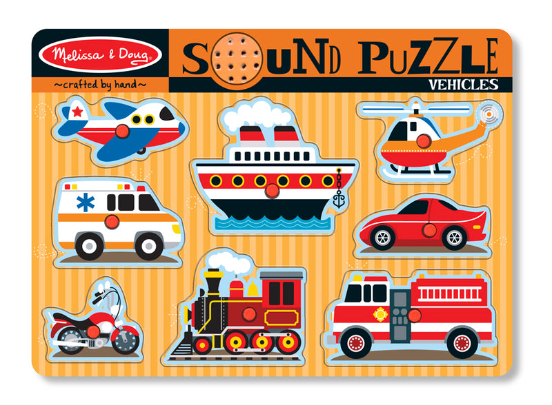 Vehicles Sound Puzzle 8pc - Melissa and Doug