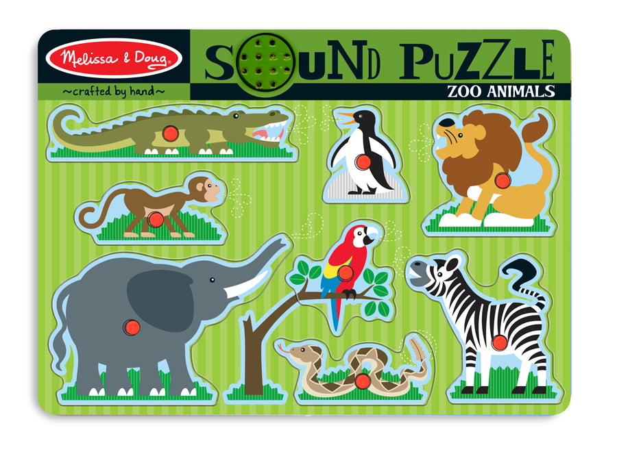 Zoo Animals Sound Puzzle 8pc - M&D