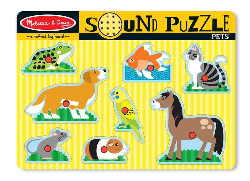 Pets Sound Puzzle 8pc - Melissa and Doug