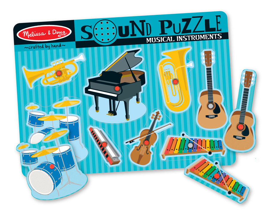 Musical Instruments Sound Puzzle 8pc - Melissa & Doug
