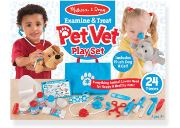 Examine and Treat Pet Vet Set - Melissa and Doug