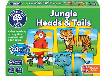 Jungle Heads and Tails Game - Orchard Toys