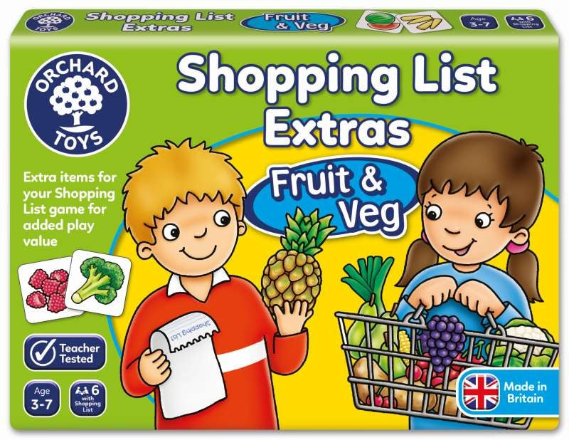 Fruit & Veg Shopping List Booster Pack - Orchard Toys