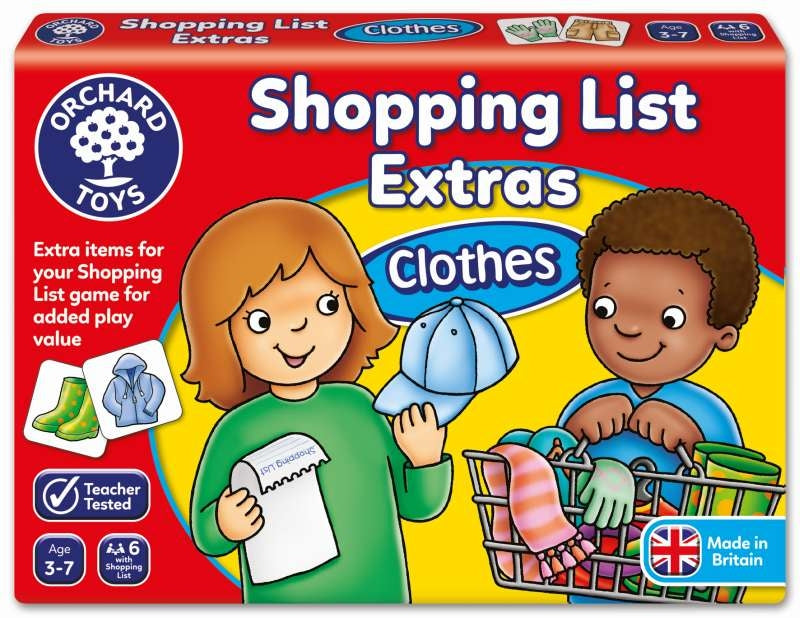 Clothes Shopping List Booster Pack - Orchard Toys