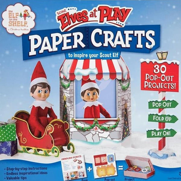 Paper Crafts Elves at Play - Elf on the Shelf