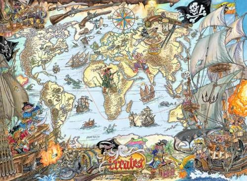 Pirate Map 200pc Puzzle - Ravensburger