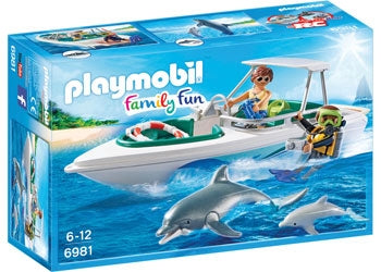 Diving Trip with Speedboat - Playmobil
