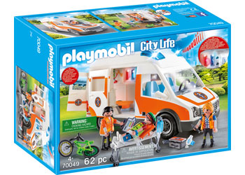 Ambulance with Flashing Lights - Playmobil