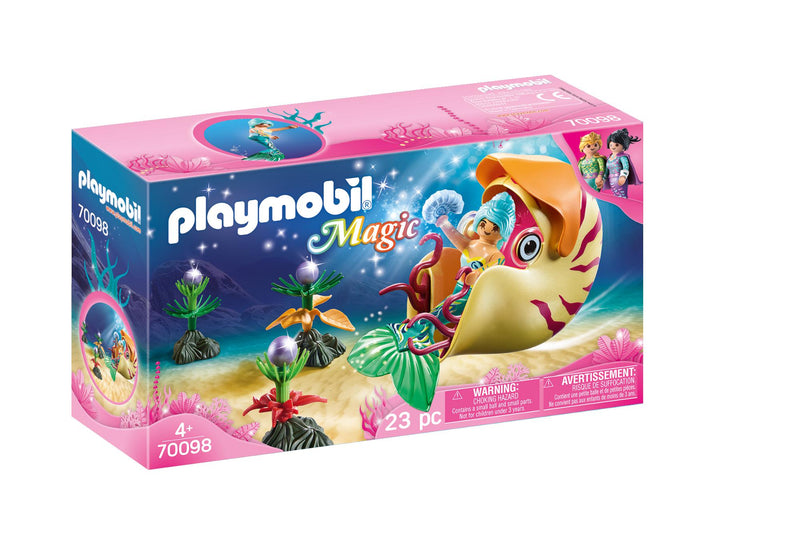 Mermaid with Sea Snail Gondola - Playmobil