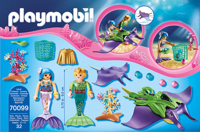 Mermaid Pearl Collectors with Manta Ray - Playmobil