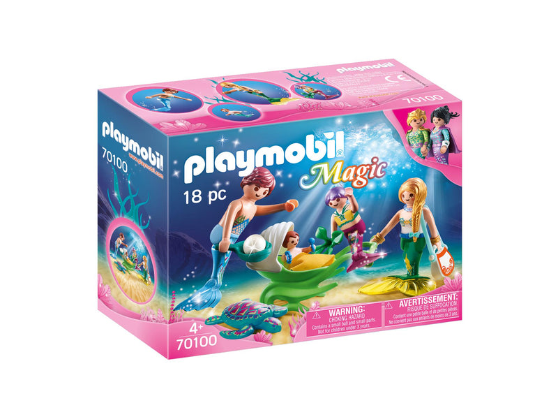 Mermaid Family with Shell Stroller - Playmobil