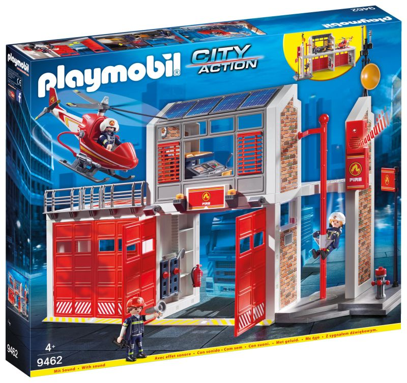 Fire Station with Helicopter - Playmobil