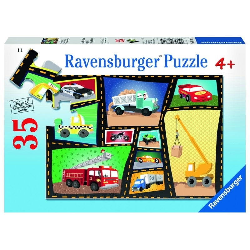 Tires & Engines 35pc Puzzle - Ravensburger