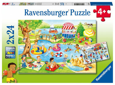 Swimming at the Lake 2x24pc Puzzles - Ravensburger