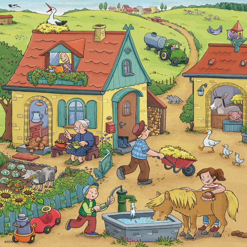 On the Farm 3x49pc Puzzles - Ravensburger