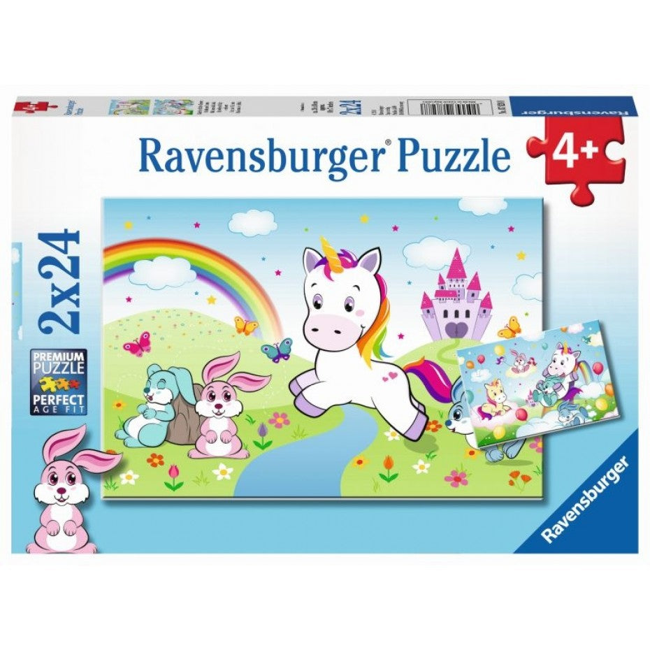 Fairytale Unicorn 2x24pc Puzzle - Ravensburger