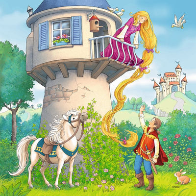 Rapunzel Riding Hood and Frog Prince 3x49pc Puzzles - Ravensburger
