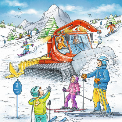 Lets Go Skiing 3x49pc Puzzles - Ravensburger