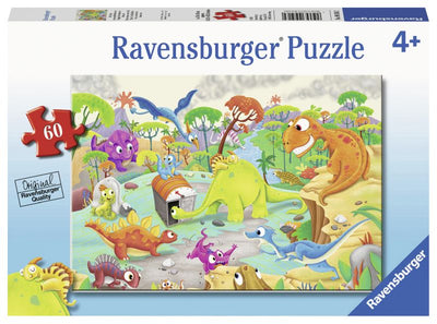 Time Travelling Dinos 60pc Puzzle - Ravensburger