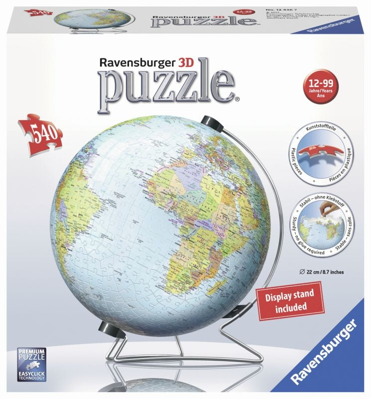 World Globe 3D 540pc Puzzleball - Ravensburger