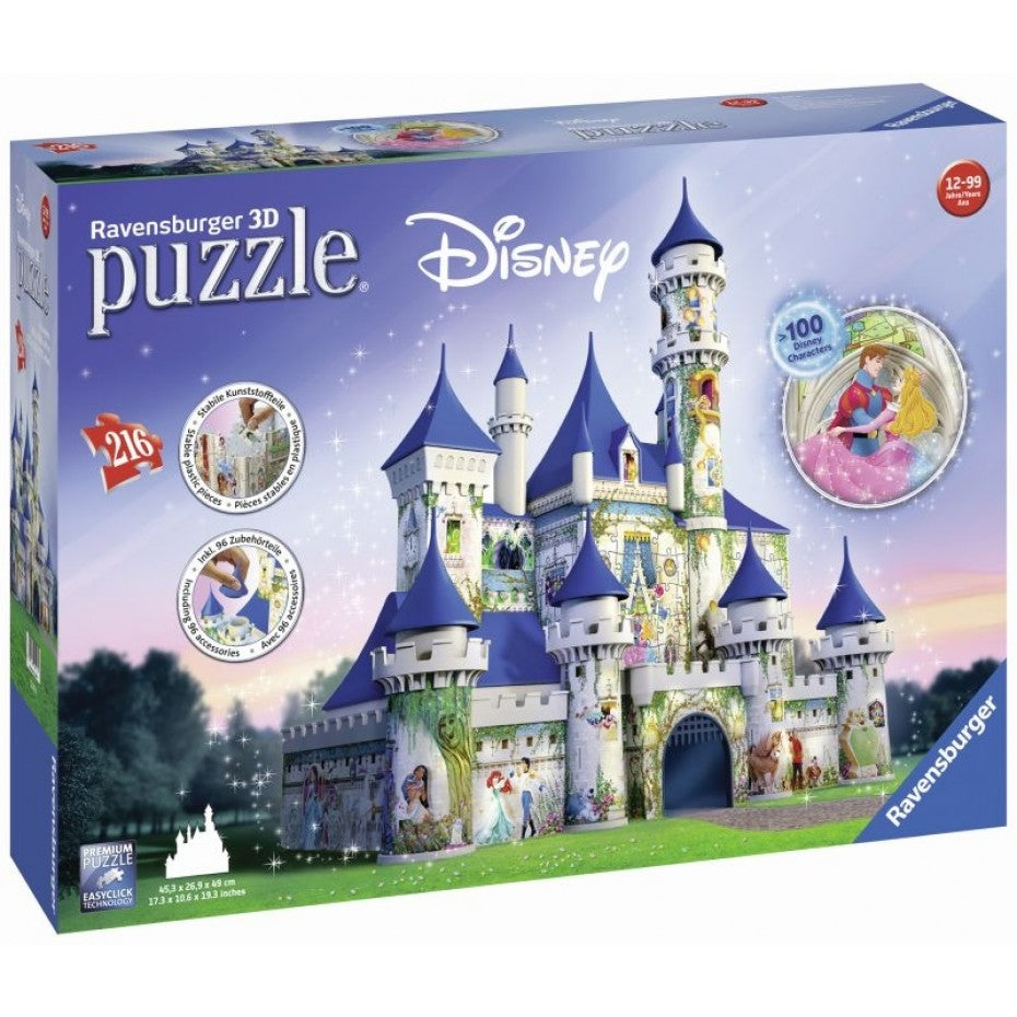 Disney Princesses Castle 3D 216pc Puzzle - Ravensburger