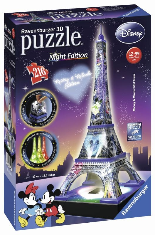 Micky & Minnie Eiffel Tower 3D 216pc Puzzle - Ravensburger