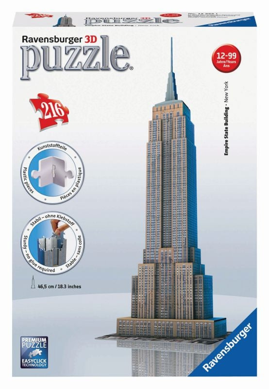 Empire State 3D 216pc Puzzle - Ravensburger