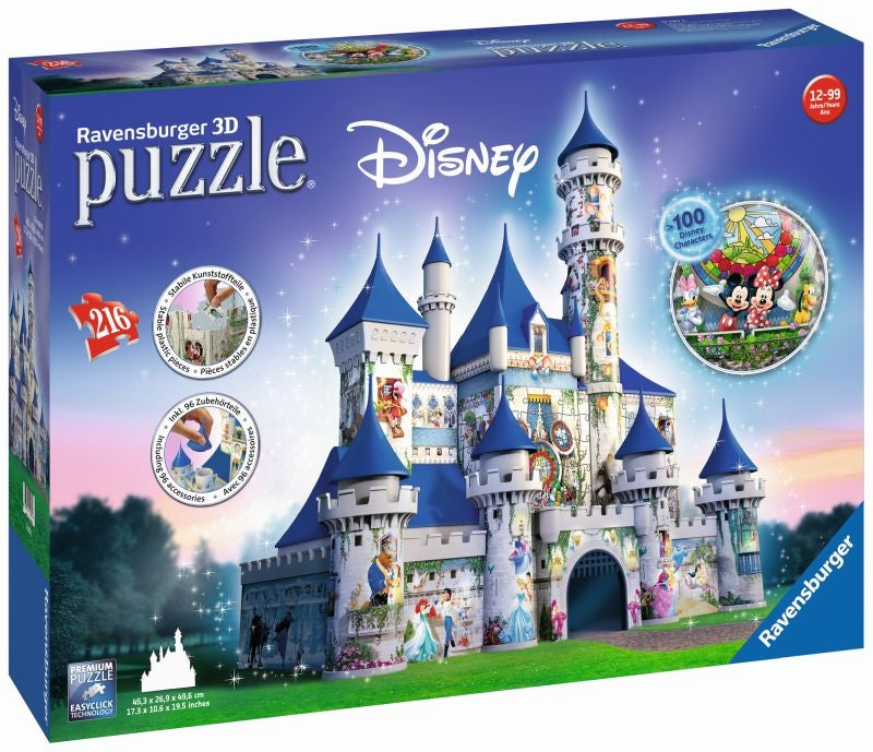 Disney Castle 3D 216pc Puzzle - Ravensburger