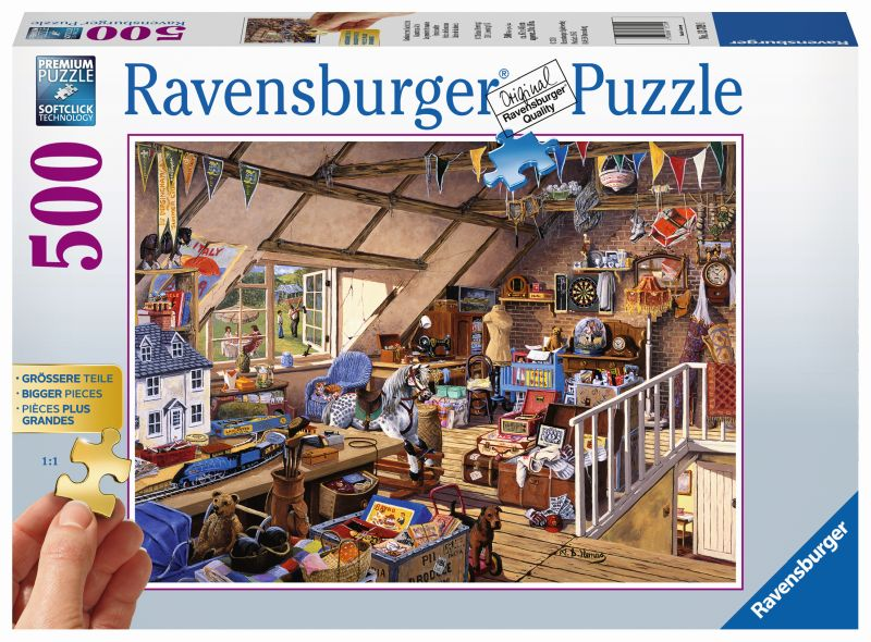 Grandmas Attic 500pc Puzzle - Ravensburger