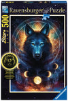 Lunar Wolf 500pc Glow in the Dark Puzzle - Ravensburger