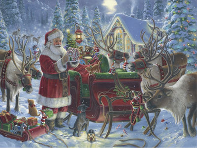 Packing the Sleigh Christmas 1000pc Puzzle - Ravensburger
