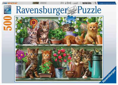 Cats on the Shelf 500pc Puzzle - Ravensburger
