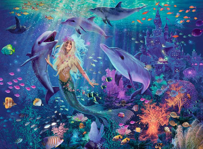 Mermaid 500pc Brilliant Jewel Puzzle - Ravensburger