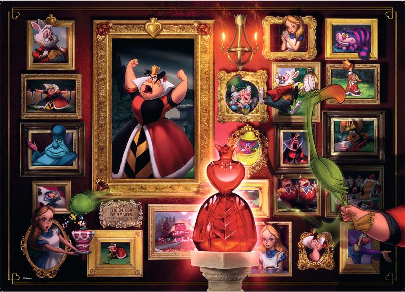Queen of Hearts Disney Villainous 1000pc Puzzle - Ravensburger