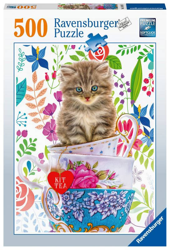 Kitten in a Cup 500pc Puzzle - Ravensburger
