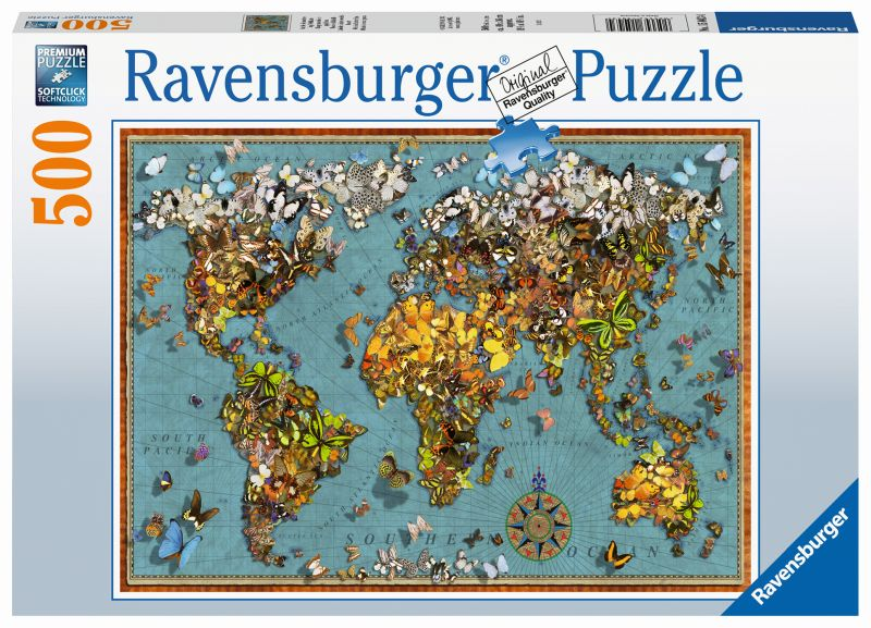 World of Butterflies 500pc Puzzle - Ravensburger