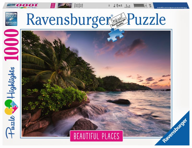 Praslin Island Seychellles Beautiful Places 1000pc Puzzle - Ravensburger