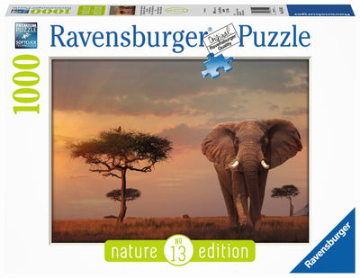 Elephant in the Massai Mara 1000pc Puzzle - Ravensburger