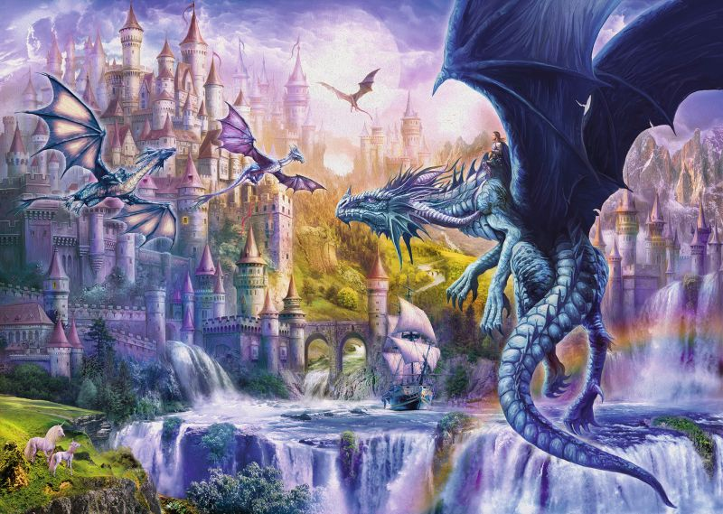 Dragon Castle 1000pc Puzzle - Ravensburger