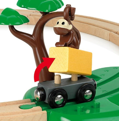 Safari Railway Set - Brio- magnetic monkey
