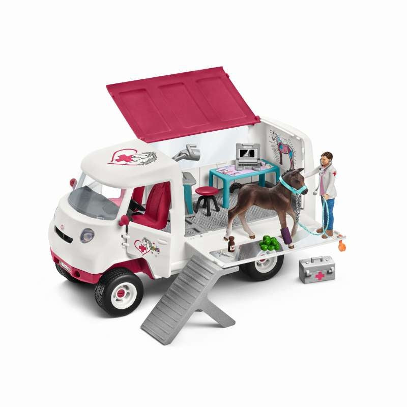 Mobile Vet Van with Hanoverian Foal - Schleich