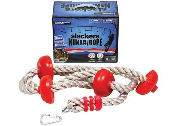 Ninja Climbing Rope 8' with Foot Holds - Slackers