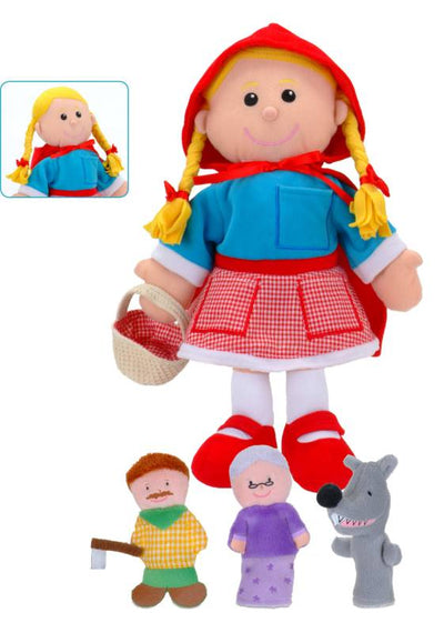 Red Riding Hood Puppets - Fiesta Crafts 3